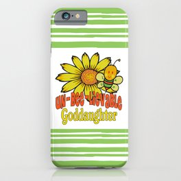 Unbelievable Goddaughter Sunflowers and Bees iPhone Case
