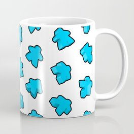 Meeple Mania Icy Blue Coffee Mug