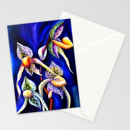 Watercolor ArtworkOrchid The Paphiopedilum  Lady's Slipper Stationery Cards