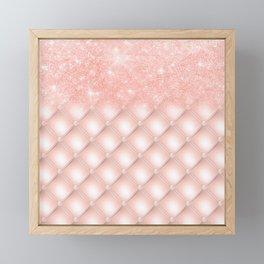 Luxury Rosegold Glitter Pearl Framed Mini Art Print