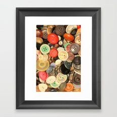 Push My Buttons Framed Art Print