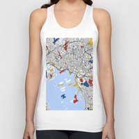 oslo Tank Tops featuring Oslo by Mondrian Maps