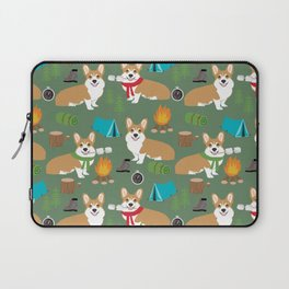 Corgi camping cute welsh corgis campfire outdoors scouts corgis must haves Laptop Sleeve