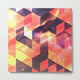 Geometric Fire Metal Print