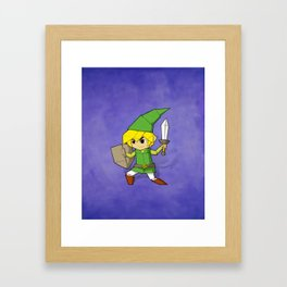 Origami Elf Adventurer Framed Art Print