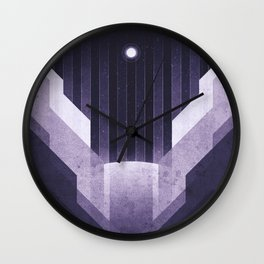 Dione - The Ice Cliffs Wall Clock
