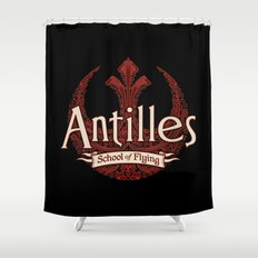 Antilles School of Flying Shower Curtain