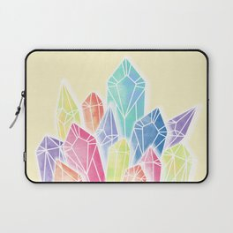 Crystals Yellow Laptop Sleeve