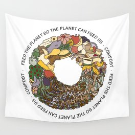 Feed the Planet Composting Wheel Wall Tapestry
