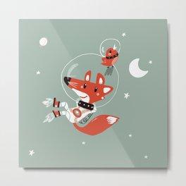 Space Fox Metal Print