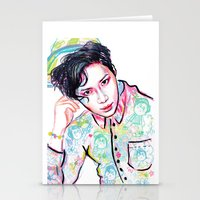 shinee Stationery Cards featuring SHINee Taemin Colorful by sophillustration