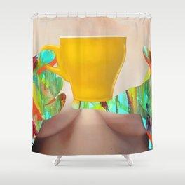 My Morning Coffee Shower Curtain