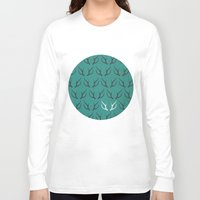 antlers Long Sleeve T-shirts featuring Antlers by hannahclairehughes