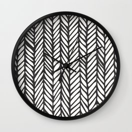 Black Threads Wall Clock