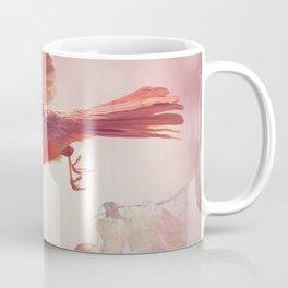 Male Northern Cardinal Flying  ,watercolor painting Coffee Mug