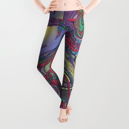 DRAGON WATER ABSTRACT Leggings