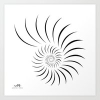 shell Art Prints featuring Shell by Andrew Formosa