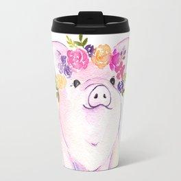 Piglet watercolor Travel Mug