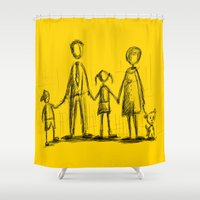 family Shower Curtains featuring Family by Moisés Ferreira