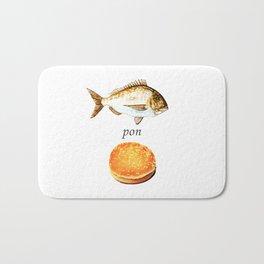 Fish Pon Bun Bath Mat