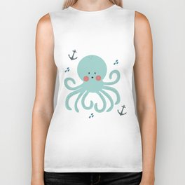 Squid Pattern Biker Tank