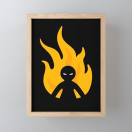 Flaming Anger Framed Mini Art Print