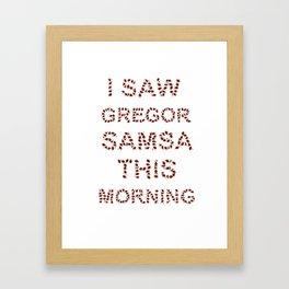 Gregor Framed Art Print