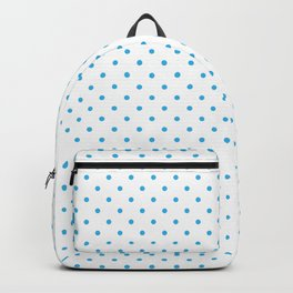 Domino sky blue dots pattern Backpack