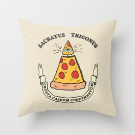 Illuminati Pizza Slice Pyramid Throw Pillow