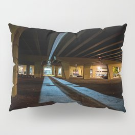 Milwaukee Freeway Bridge at Night Pillow Sham