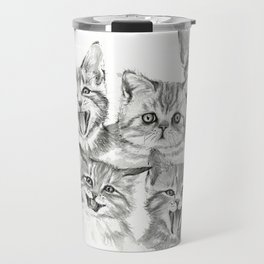 Kittens Pattern Cute Meowing Cats Travel Mug