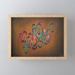 Entwining Ribbons Framed Mini Art Print