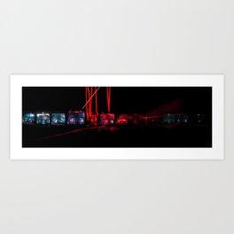 Lens Split Art Print