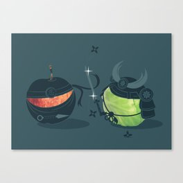 ninja vs samurai Canvas Print