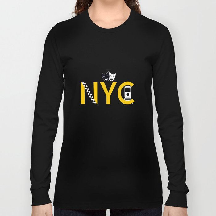 NYC Icon Collage Long Sleeve T-shirt