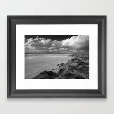 Dried Salt Lake Framed Art Print