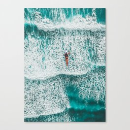 Girl Surfing Canvas Print