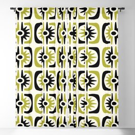 Mid Century Modern Big Bang Pattern Blackout Curtain