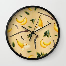 Wild West Gone Bananas! Wall Clock