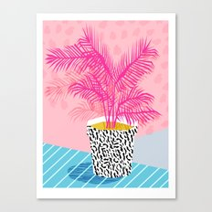 No Can Do - hipster abstract neon 1980s style memphis print palm springs socal los angeles desert Canvas Print