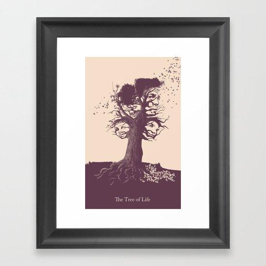 Tree of Life poster Framed Art Print