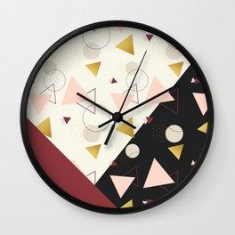 Triangles Mix #society6 #decor #buyart Wall Clock