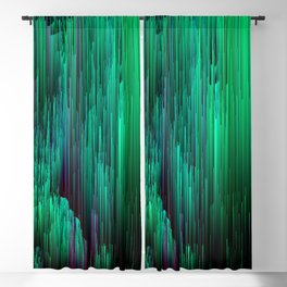 Lit from Below - Abstract Glitch Pixel Art Blackout Curtain