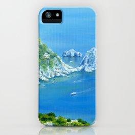 Island Paradise: Isle of Capri painting iPhone Case
