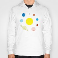 solar system Hoodies featuring Solar System by fairandbright