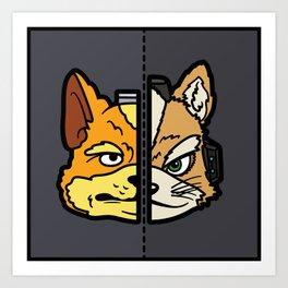Old & New Fox McCloud Art Print