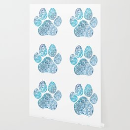 Paw print mandala Wallpaper