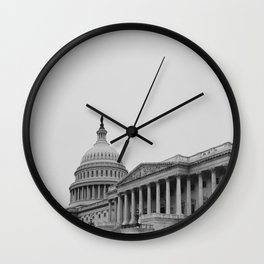 US Capitol Side Perpsective Wall Clock