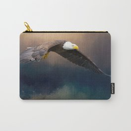 Painting flying american bald eagle Carry-All Pouch