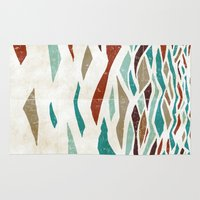ryan gosling Area & Throw Rugs featuring Sea Recollection by Efi Tolia